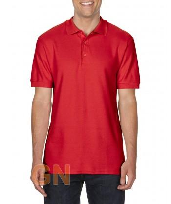 Polo manga corta Gildan de algodón color rojo