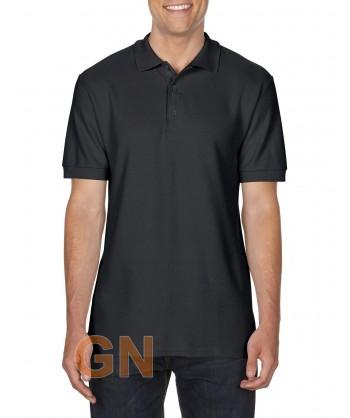 Polo manga corta Gildan de algodón color negro
