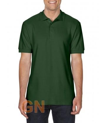 Polo manga corta Gildan de algodón color verde bosque