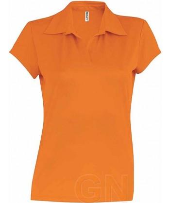 Polo deportivo de mujer transpirable color naranja