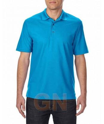 Polo transpirable de manga corta color azul zafiro
