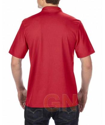 Polo transpirable de manga corta color rojo