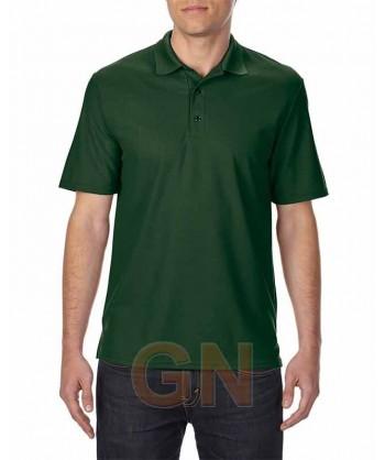 Polo transpirable de manga corta color verde bosque