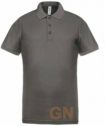 Polo de manga corta con tejido técnico transpirable Cool Plus® color gris