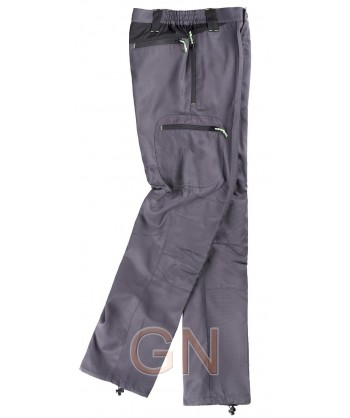 Pantalón sport multibolsillos de viscosa con refuerzos