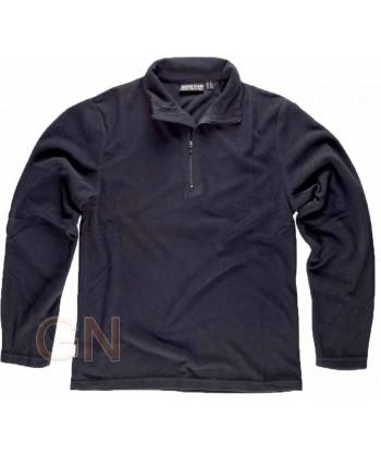 Jersey polar segunda piel con cierre de media cremallera color negro