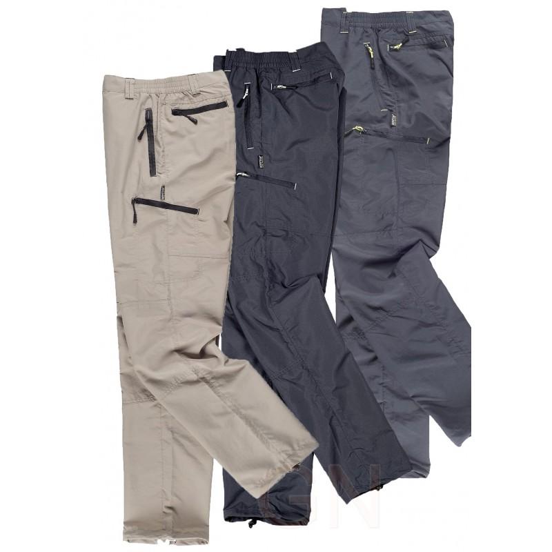 Pantalón sport multibolsillos de nylon transpirable