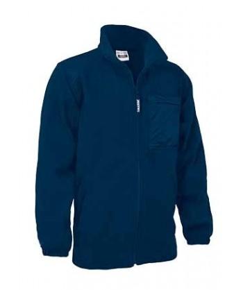 chaqueta polar económica con refuerzos color marino