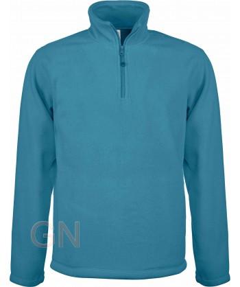 Jersey polar de media cremallera azul tropical