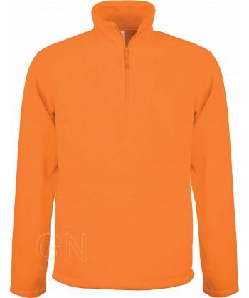 Jersey polar de media cremallera naranja