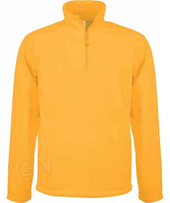 Jersey polar de media cremallera amarillo
