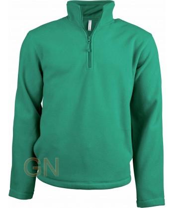 Jersey polar de media cremallera verde kelly
