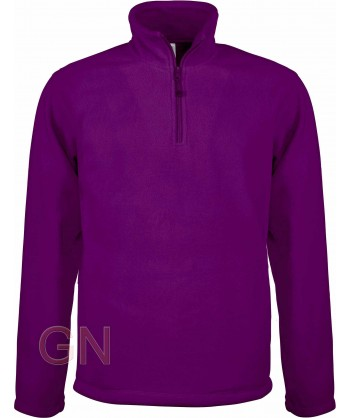 Jersey polar de media cremallera purpura