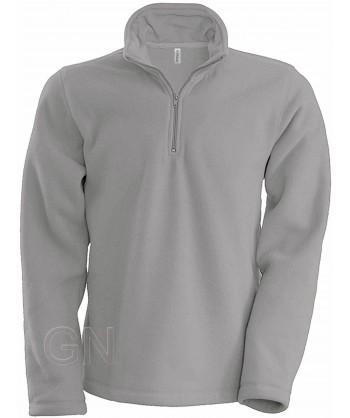 Jersey polar de media cremallera gris