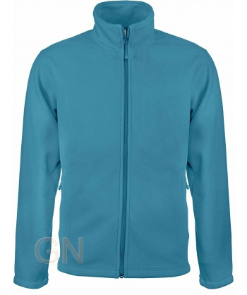chaqueta polar gruesa color azul tropical