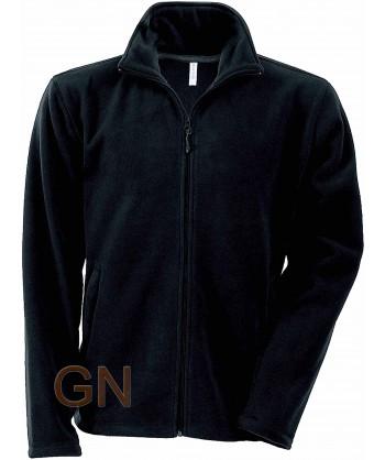 chaqueta polar gruesa color negro
