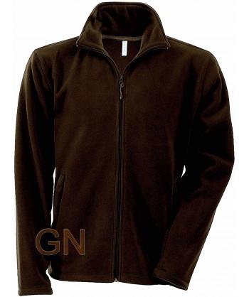 chaqueta polar gruesa color chocolate