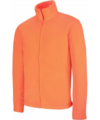 chaqueta polar gruesa color naranja