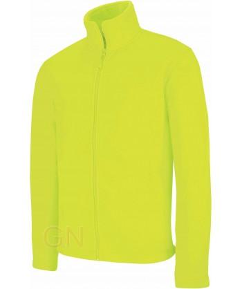 chaqueta polar gruesa color amarillo A.V.