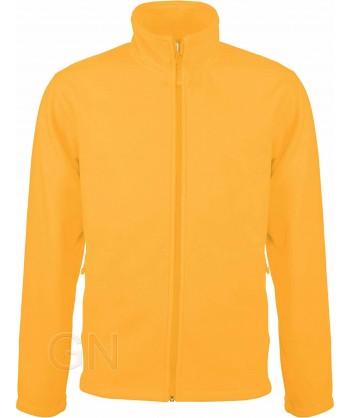 chaqueta polar gruesa color amarillo