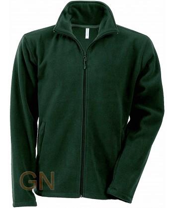 chaqueta polar gruesa color verde bosque