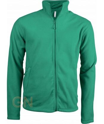 chaqueta polar gruesa color verde kelly