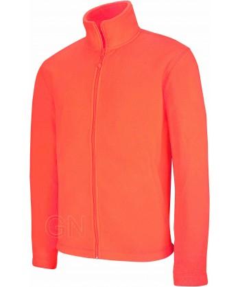 chaqueta polar gruesa color naranja A.V.