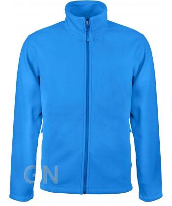 chaqueta polar gruesa color celeste