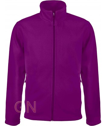 chaqueta polar gruesa color purpura