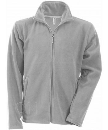 chaqueta polar gruesa color gris