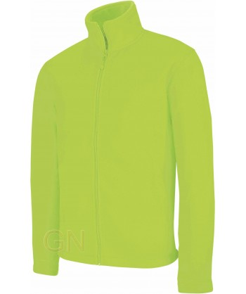 chaqueta polar gruesa color lima