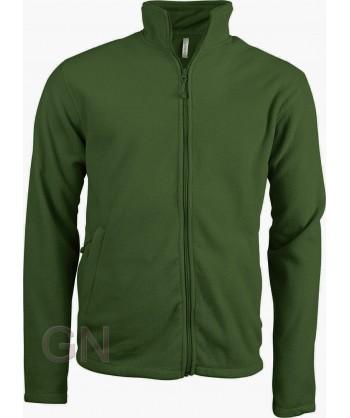 chaqueta polar gruesa color verde oliva