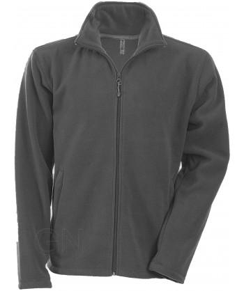 chaqueta polar gruesa color gris oscuro