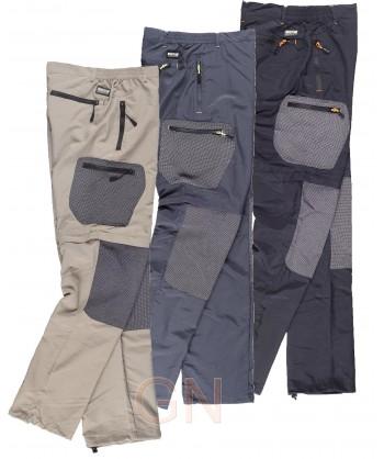 Pantalón sport multibolsillos desmontable y transpirable