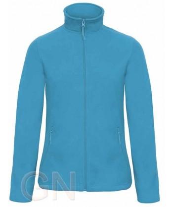 Chaqueta polar gruesa de mujer color azul atoll