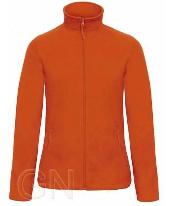 Chaqueta polar gruesa de mujer color naranja