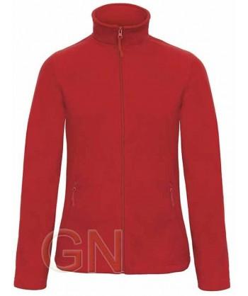 Chaqueta polar gruesa de mujer color rojo