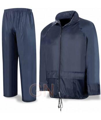 Conjunto chaqueta pantalón tipo ingeniero especial lluvia color marino