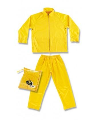 Conjunto chaqueta pantalón tipo ingeniero especial lluvia color amarillo