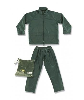 Conjunto chaqueta pantalón tipo ingeniero especial lluvia color verde