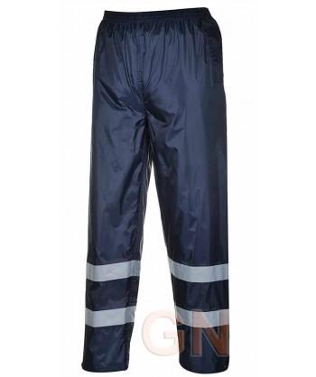 Cubre pantalón para lluvia con cintas reflectantes
