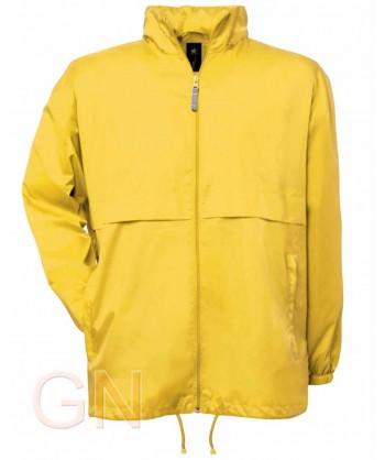Chubasquero con forro especial lluvia color amarillo
