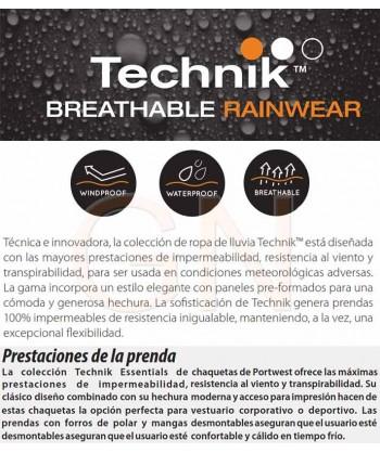 Pantalon para lluvia altamente transpirable