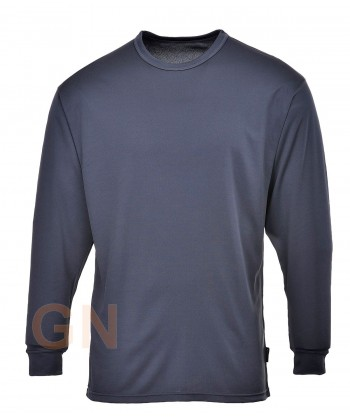 Camiseta térmica de manga larga con tejido transpirable color gris oscuro