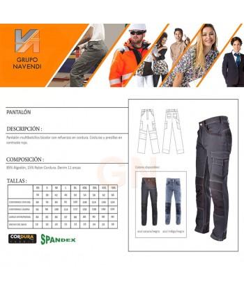 Pantalones multibolsillos con refuerzos de cordura