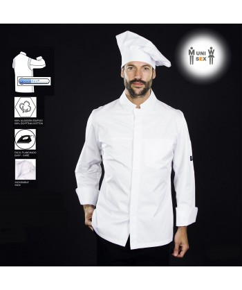 Chaqueta de cocina de algodón con sisas transpirables