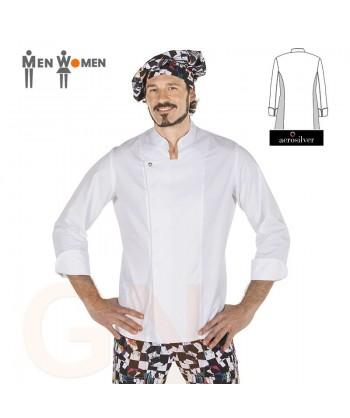 Chaqueta de cocina de hombre con los costados transpirables