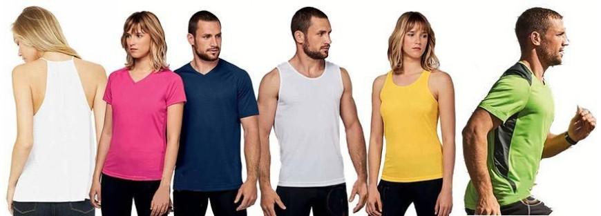 Camisetas para actividades laborales y deportivas