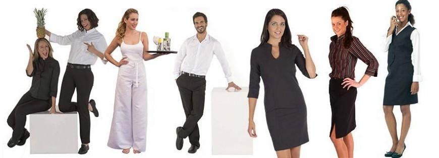 Faldas y pantalones muy prácticos para el servicio de camareros