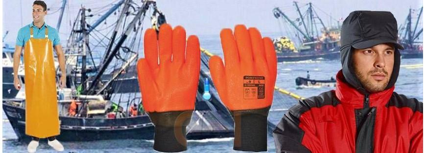 Gorros, delantales, manguitos, etc... para la industria pesquera